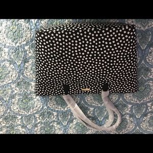 Large black polka dot Kate Spade Tote